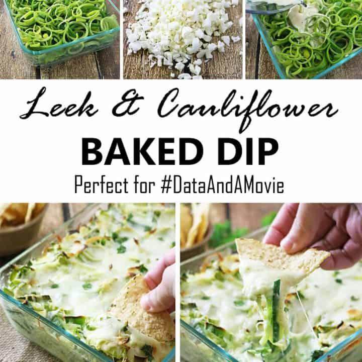 Leek Cauliflower Baked Dip