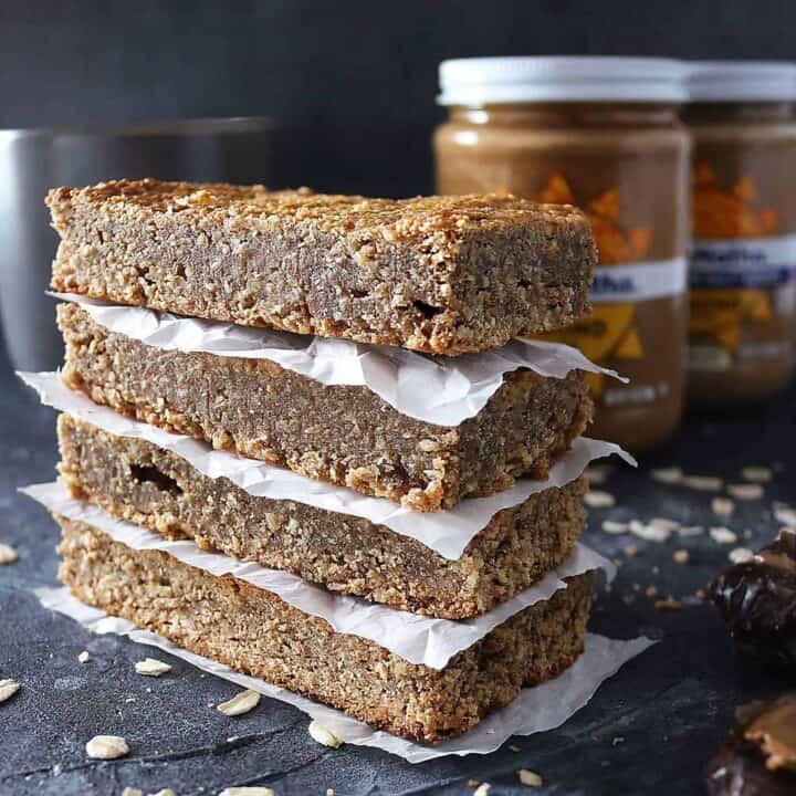 Easy Date Almond Butter Bars {Refined Sugar Free • Gluten Free}