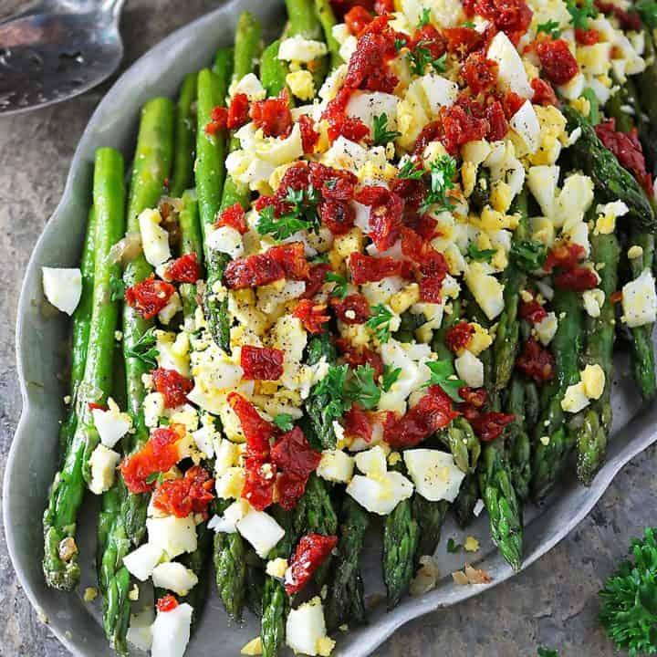 Sautéed Asparagus Egg Salad