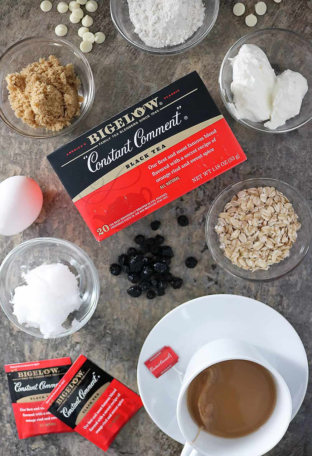 Photo of Ingredients For Making Gluten Free Blueberry White Chocolate Scones