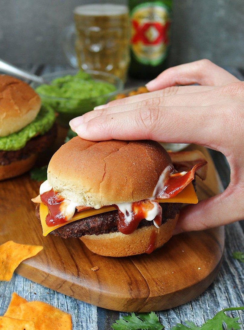 Delicious MorningStar BC Burger.