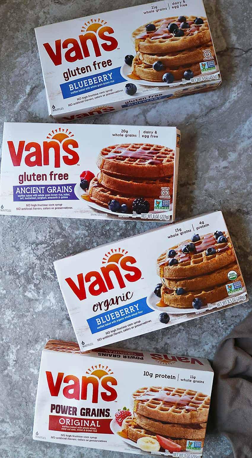 Variety of of Van's waffles