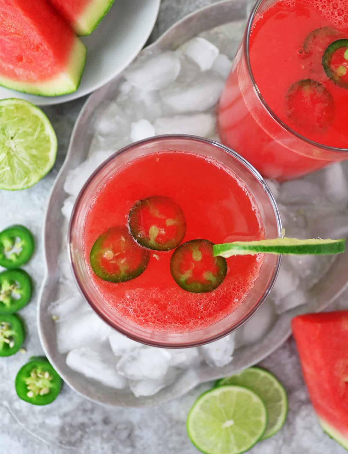 easy mocktail for cinco de mayo - spicy watermelon paloma