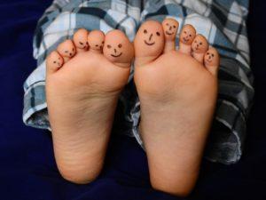 Kind barfuß - keine Schuhe