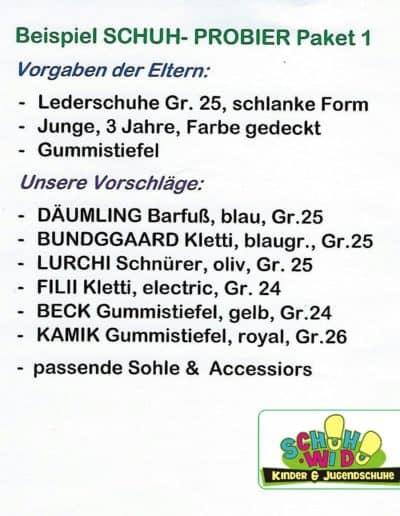 Schuh-Probier-Paket 1 als Bild mit Logo