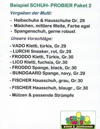 Schuh-Probier-Paket 2 als Bild- mit Logo