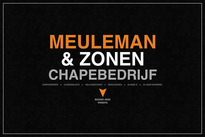 ontwerp responsive onepage website voor chapebedrijf Meuleman uit Koekelare
