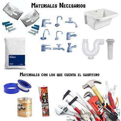 materiales para instalacion de lavadero