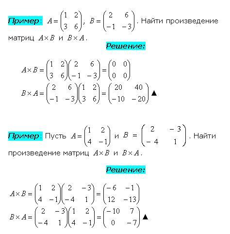 Умножение квадратных матриц