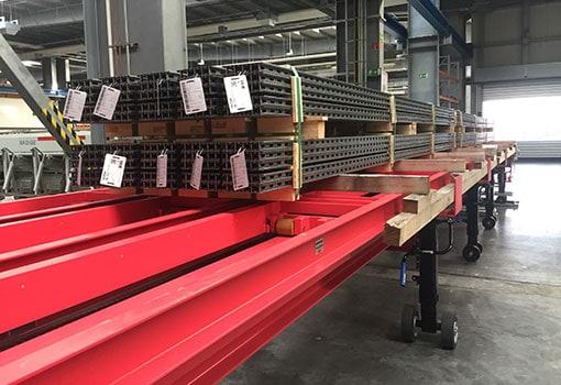 SIMPLY. Material Handling System für Europaletten Transportwagen und Industrieplattform wagen.