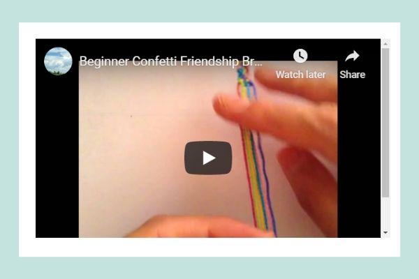 Beginner Confetti Bracelet Pattern