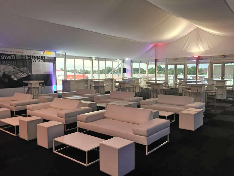 Aménagement de l'espace Shell lors des 24h du Mans, aménagé par So Event.