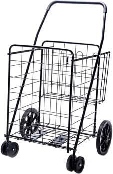 6. LS Jumbo Deluxe Folding Shopping Cart