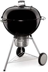 9. Weber Original Kettle Premium 26 Inch Charcoal Grill, Black