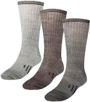 9. DG Hill 3 Pairs 80% Merino Wool Thermal Crew Men's Wool Socks