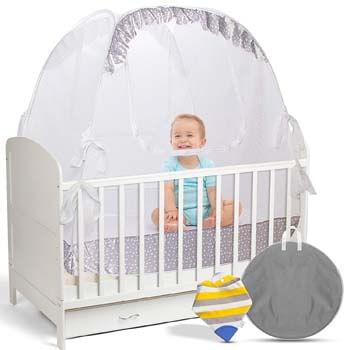 10. LA CHUPETA Crib Pop Up Tent