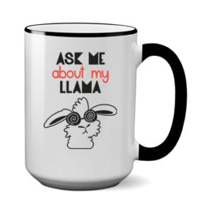 Печать на чашке Прикольная лама, Печать на футболках, чашках, кепках. Индивидуальный дизайн