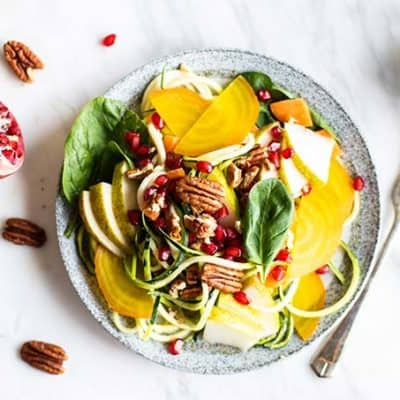 Fall Zoodle Salad (Whole30, Meal Prep)