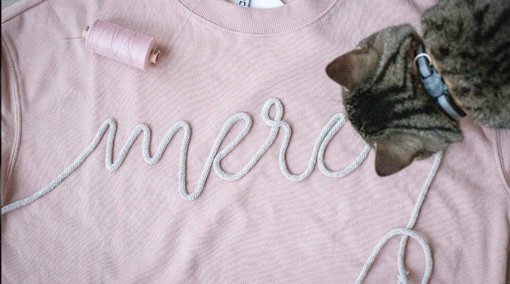Muttertagsgeschenk - DIY-Sweatshirt