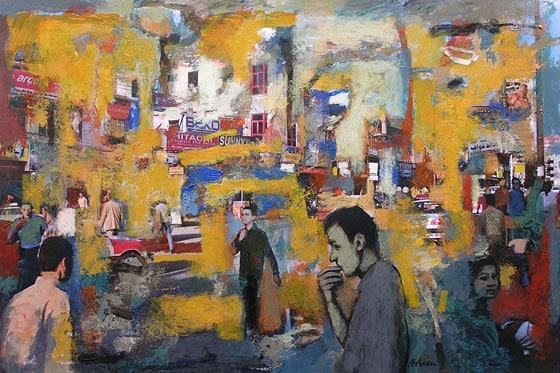Classe de pintura sobre foto a Barcelona