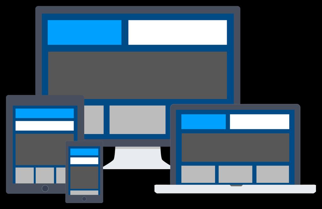 Visualisierung von der Responsiveness einer guten Website