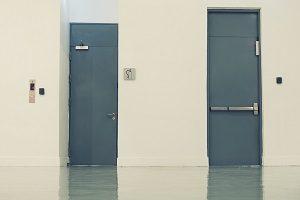 Tür, Metall, Raum, schließen
