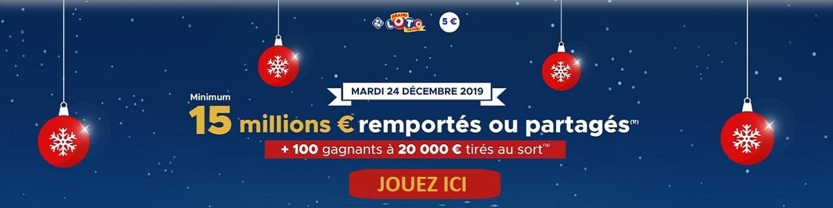 jouer au Grand Loto de Noël du 24 décembre 2019