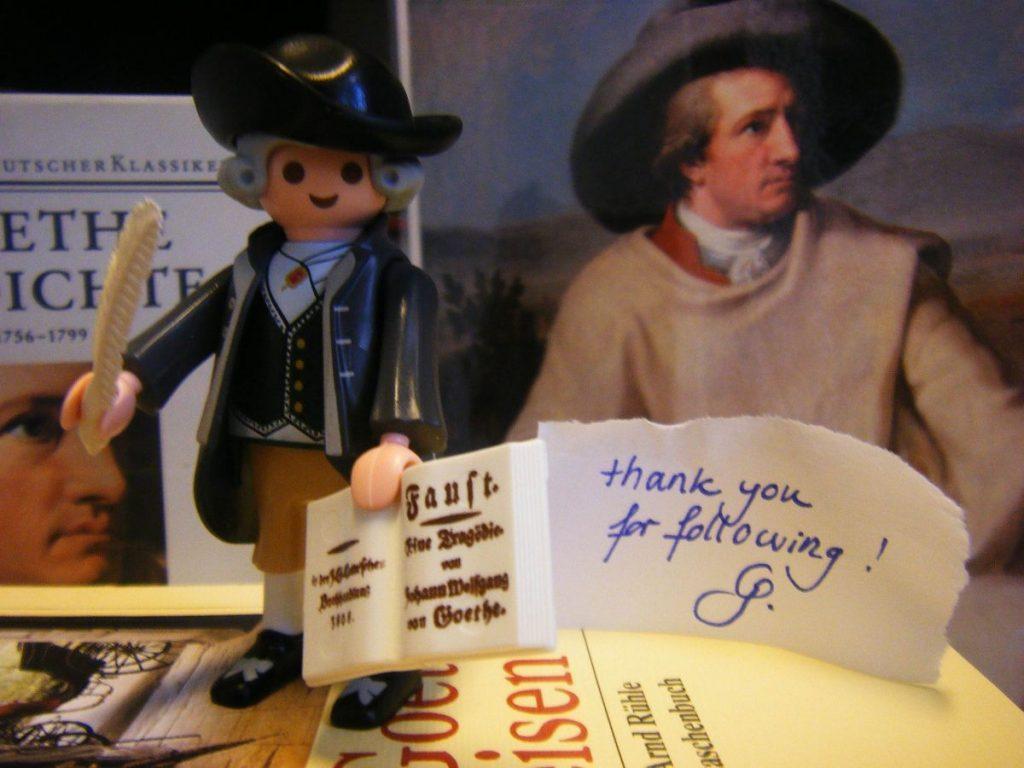 Goethe und sein Faust kindgerecht als Playmobilfigur im Düsseldorfer Goethe-Museum