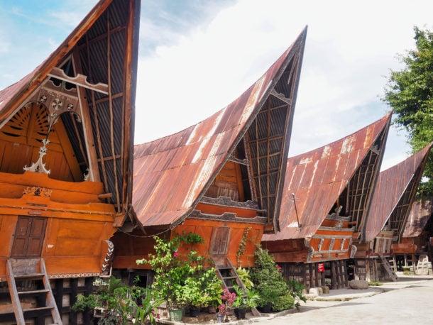 maisons batak sumatra