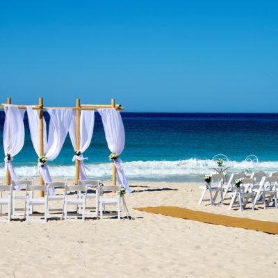 Beach Wedding Ceremony Set Up.