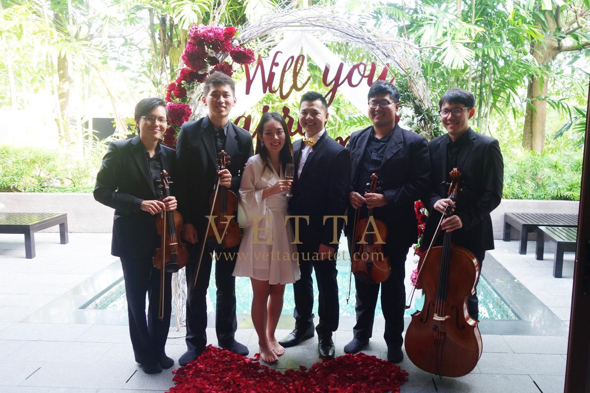 Wedding Proposal at Villa @ Capella