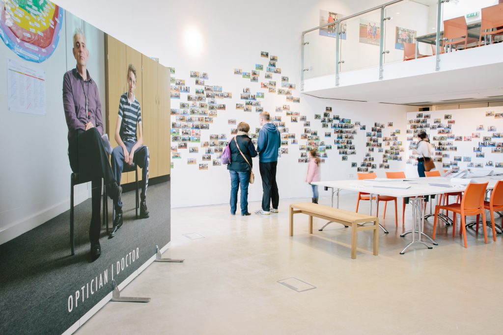 Exhibition in The Point's gallery of photographs by Les Monaghan