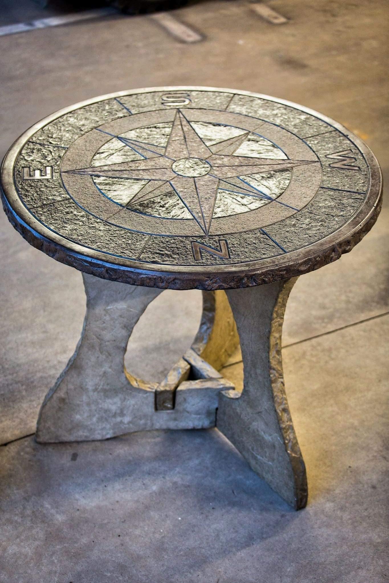 Precast Concrete Table by Wieser Concrete