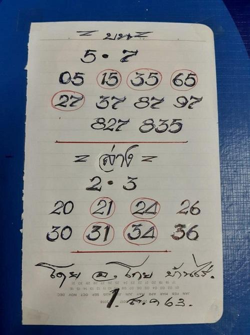 เลขเด็ด อ.โกยบ้านไร่ 1 ส.ค.63
