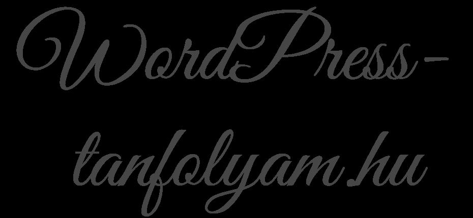 WordPress Tanfolyam Online