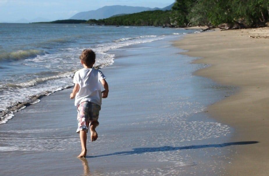 Port Douglas Australia kid on Four Mile Beach