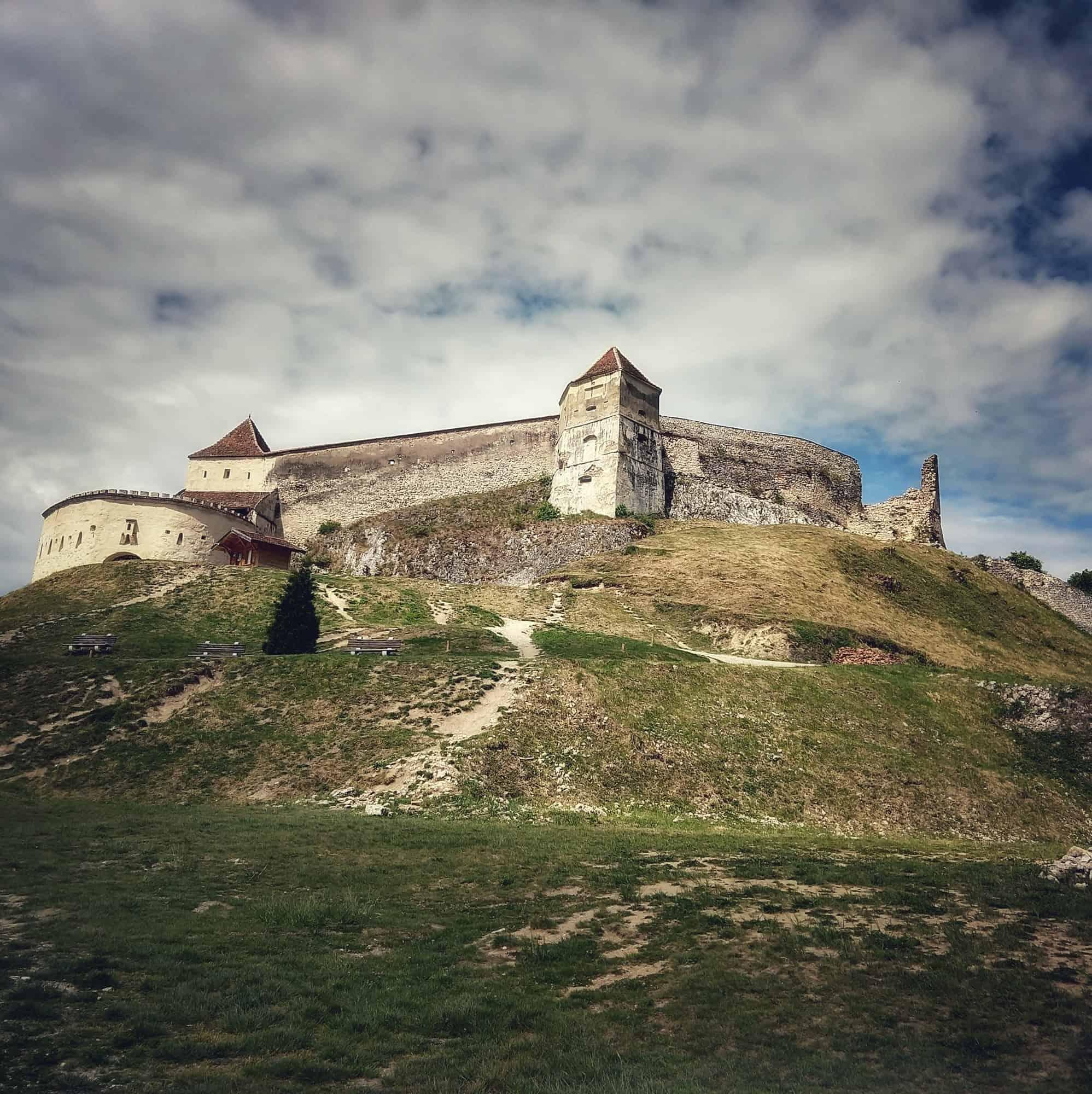 Rasnov citadel near Brasov Transylvania