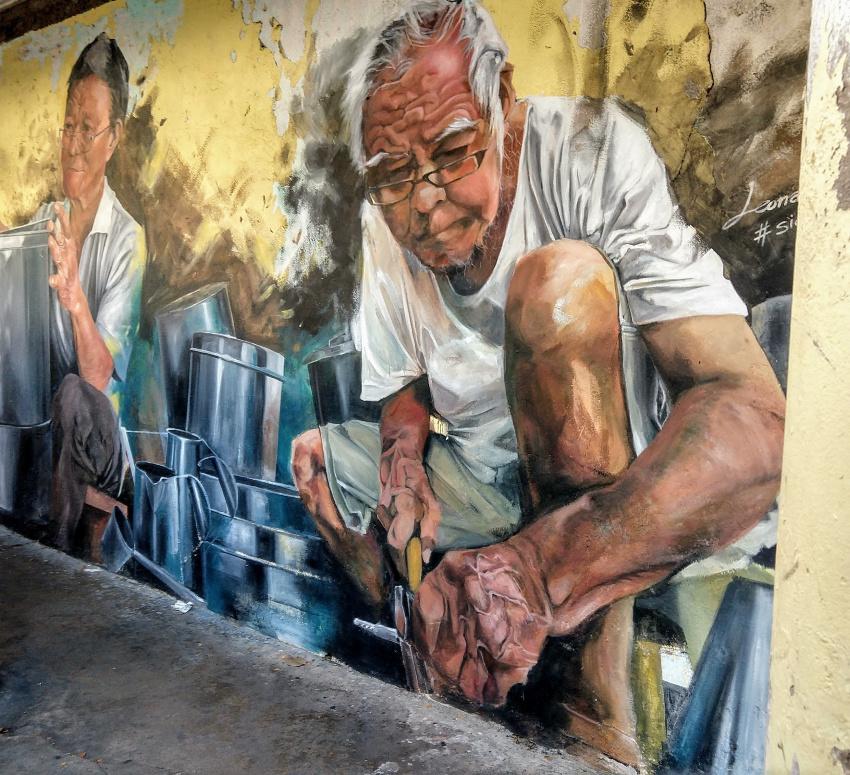 Tin Smiths Street art in Kuching - Things to do in Kuching