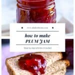 Pinterest Photo for how to make plum jam