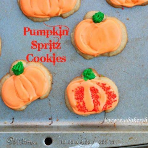 Pumpkin Spritz Cookies