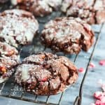 Chocolate Peppermint Cookies on a wire rack