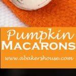 Pumpkin Macarons with Jack o Lantern Faces