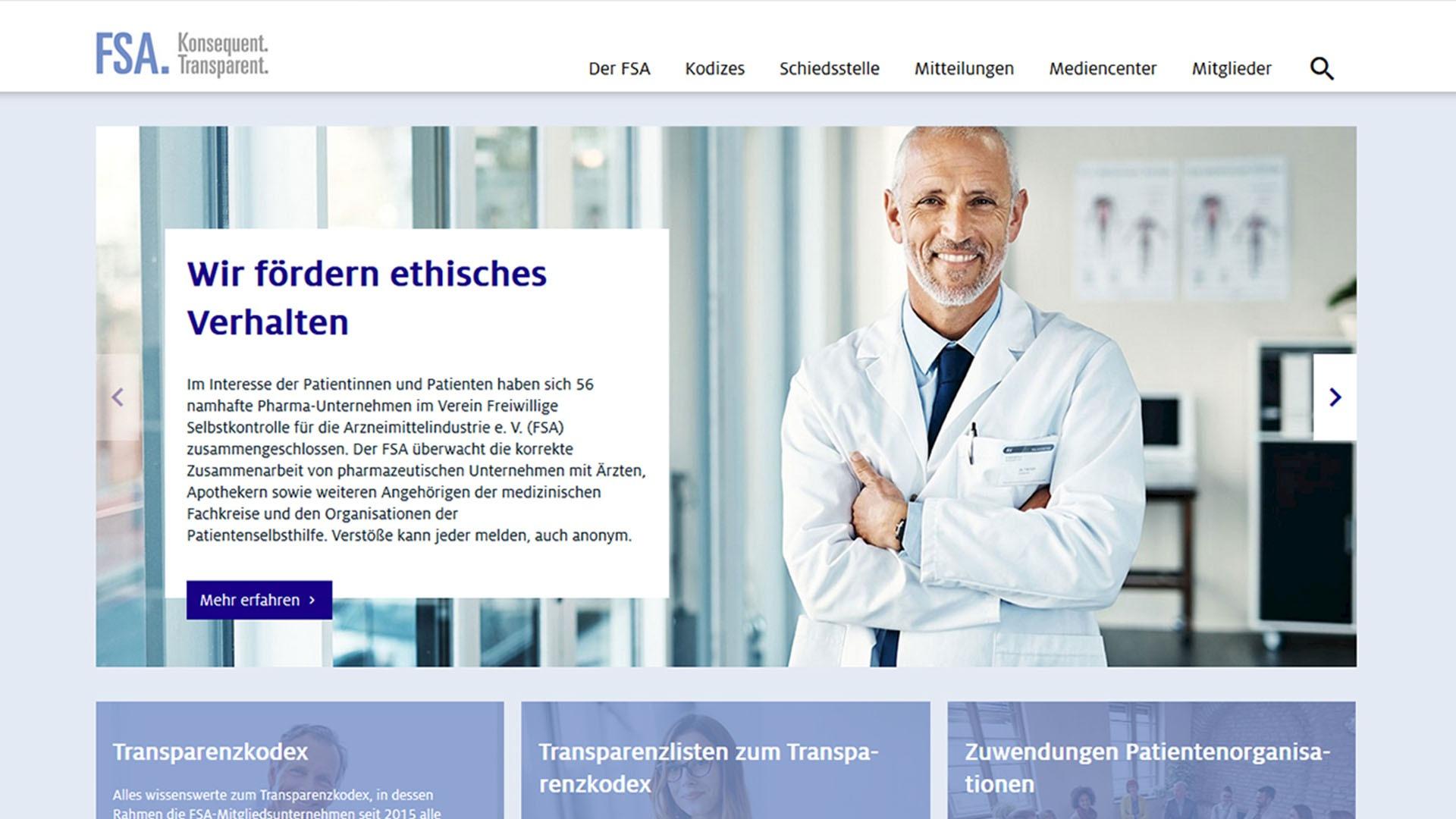 Teaser Info Portal FSA Pharma