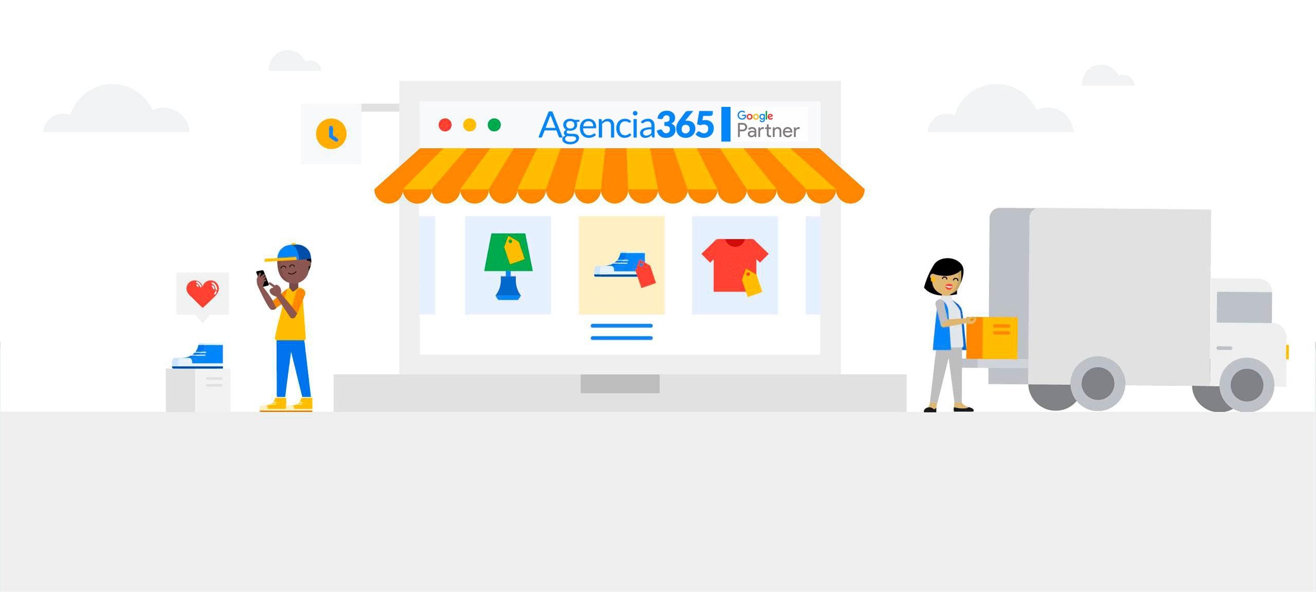 Imagen de una tienda online de Agencia365