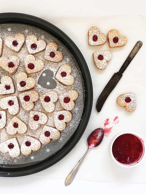 Linzer Cookies - Hearts