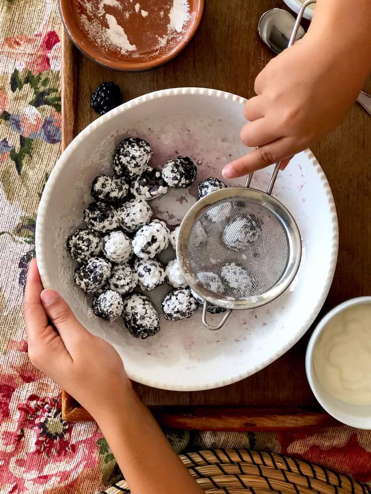 Simple blackberry dessert kids can make in a few minutes