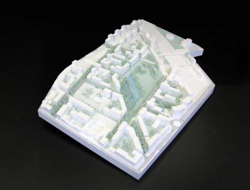 Maquette d'urbanisme de l'écoquartier de Pantin par Seura architectes