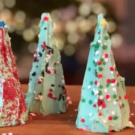 Ice cream cone Christmas trees.