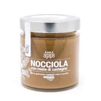 Crema di Nocciole con Miele di Castagno Biologica 425g