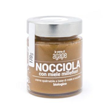 Crema di Nocciole con Miele Millefiori Biologica 170g